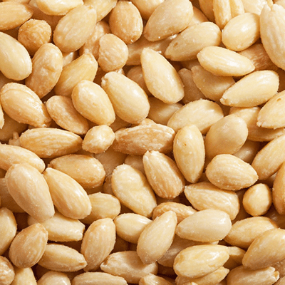 roasted salted blanched almonds